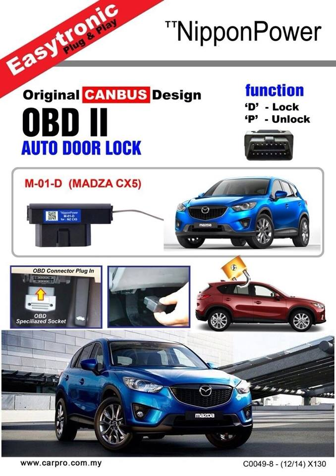 Nippon Power OBD2 Canbus Auto Door Shift Lock OBD M-01-D Mazda CX-5