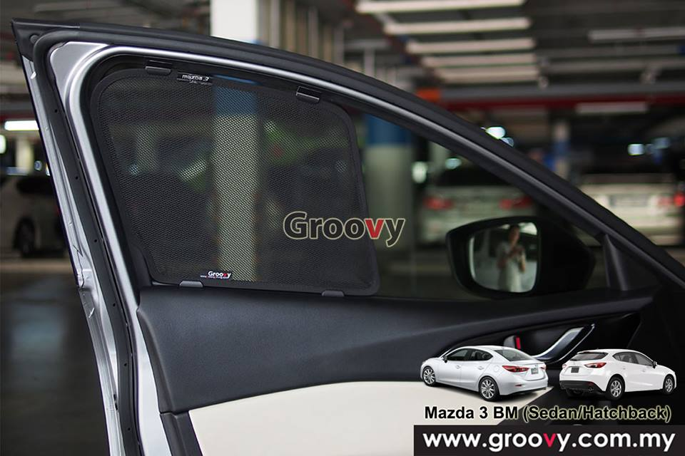 Groovy Custom Fit Sun Shades Honda Mazda 3 BM (Sedan/Hatchback) 4pcs