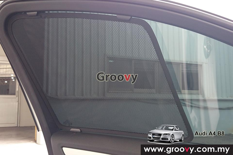 Groovy Custom Fit Sun Shades Audi A4 B8 (A+B+C) 6pcs