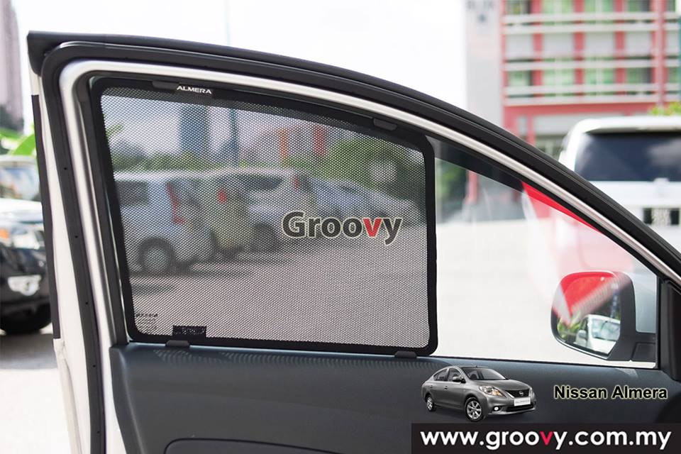 Groovy Custom Fit Sun Shades Honda Nissan Almera Sedan 4pcs