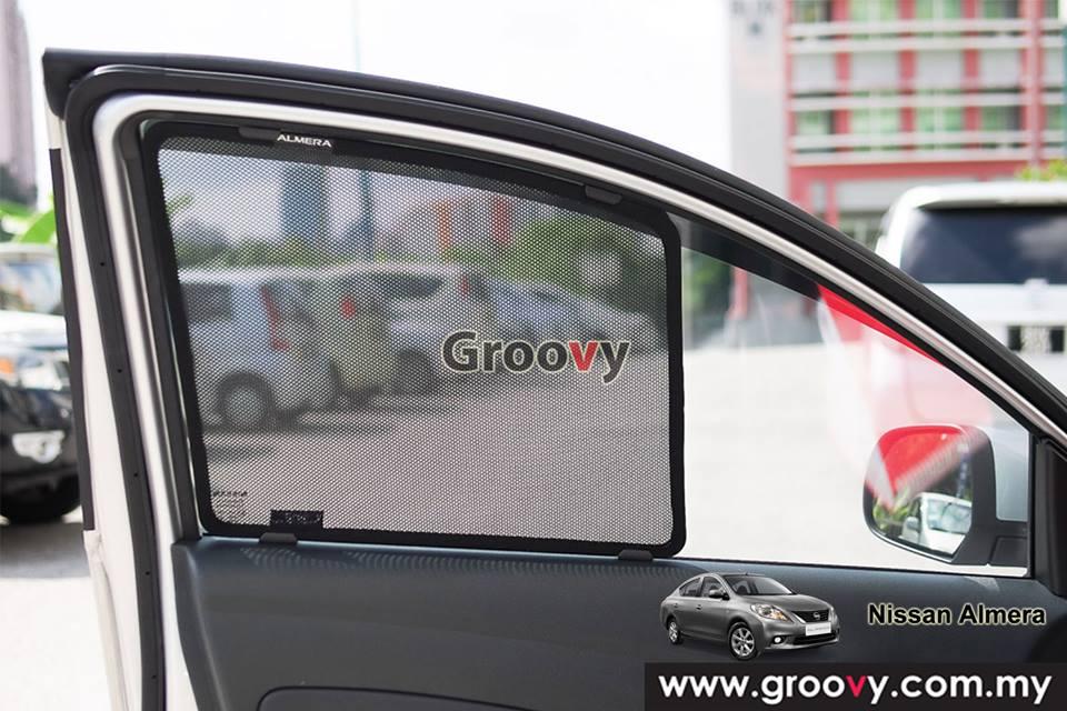 Groovy Custom Fit Sun Shades Honda Nissan Almera Sedan 4pcs