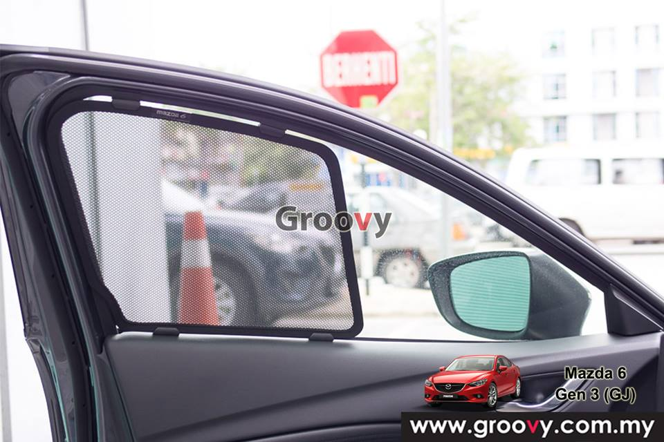 Groovy Custom Fit Sun Shades Mazda 6 GJ 3rd Gen Sedan 4pcs