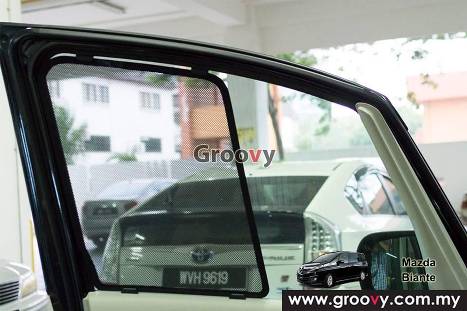 Groovy Custom Fit Sun Shades Mazda Biante MPV/SUV 6pcs
