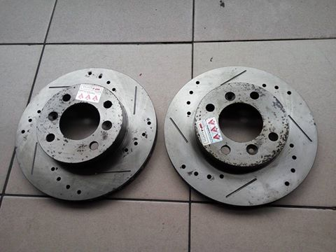 [Clearance] MP Slotted and Drilled Brake Disc Rotor for Proton Saga BLM
