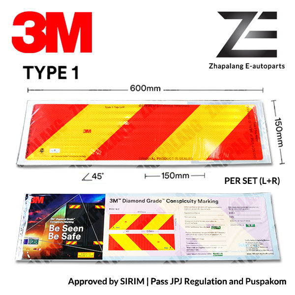[Pair]3M Lorry Reflective Sticker - SIRIM Approval | Pass JPJ Regulation and Puspakom