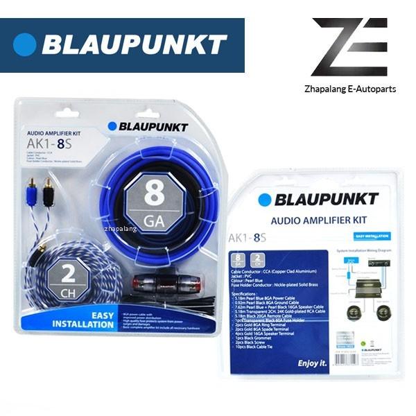 Blaupunkt AK1-8S 2 Channel 8 Gauge Car Audio Amplifier Kit with Fuse Holder