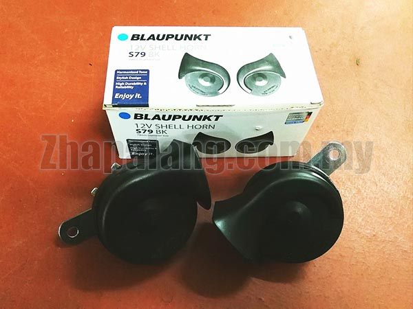 Blaupunkt 12V Shell Horn S79 Black 500/400 Hz