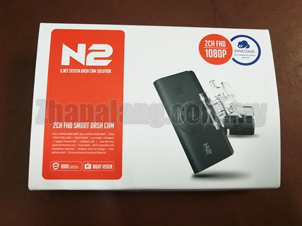 GNET N2 2CH FHD 24 hours dash cam car DVR 1080P Night Vision, 140 degree, Wifi, Parking mode, ADAS, voice guide, GPS
