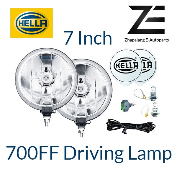 "[1 Pcs]Hella 700FF Seires 7"" Driving Lamp Set H3 Halogen Bulb"