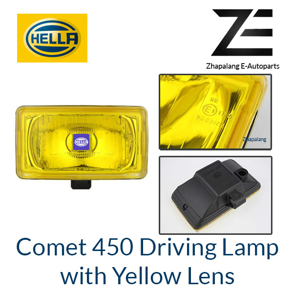 [1 Pcs]HELLA Comet 450 Driving Lamp Auxiliary Light with Yellow Lens