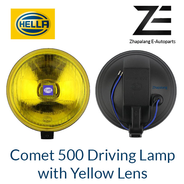 [1 Pcs]HELLA Comet 500 Driving Lamp Spotlight Halogen Fog Light with Yellow Lens