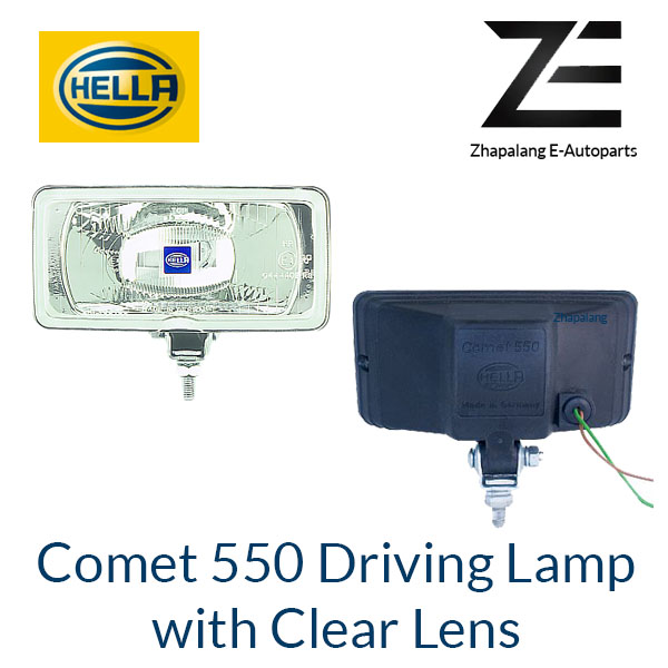 HELLA Comet 550 Driving Lamp Auxiliary Light with Clear Lens