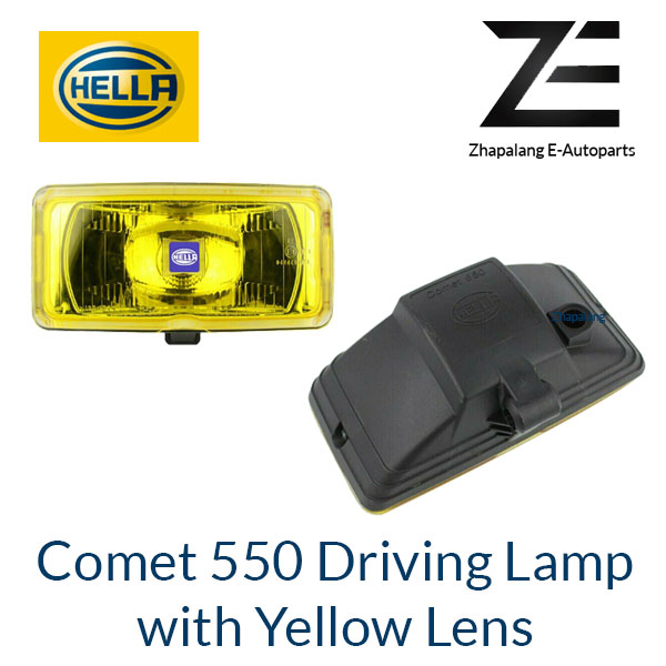 [1 Pcs]HELLA Comet 550 Driving Lamp Auxiliary Light with Yellow Lens