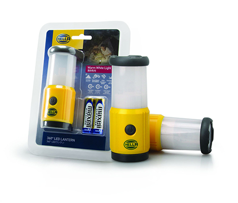 HELLA IPX6 360º LED Lantern Light SOS / Hiking / Camping / Car Break Down (Warm White Light)