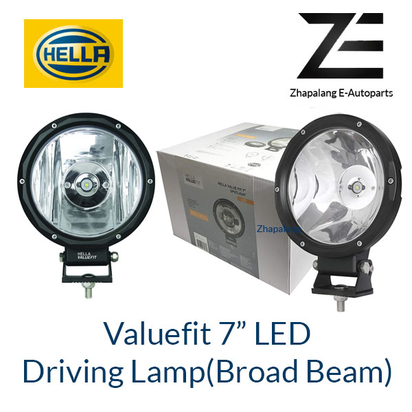 "[1 Pcs]HELLA VALUEFIT 7"" LED Driving Lamp(Broad Beam) 1G7 357 200-001"