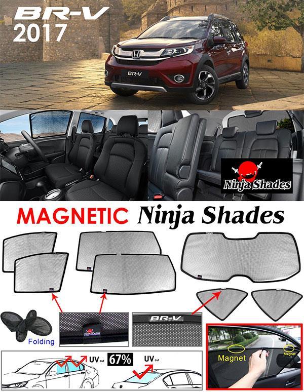 Honda BRV 2017 NINJA SHADES Magnetic Sun Shades 7 Pcs