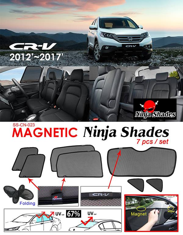 Honda CRV/CR-V 2012-17 NINJA SHADES Magnetic Sun Shades 7 Pcs