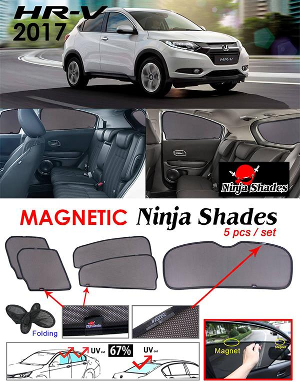 Honda HRV 2014-17 NINJA SHADES Magnetic Sun Shades 5 Pcs