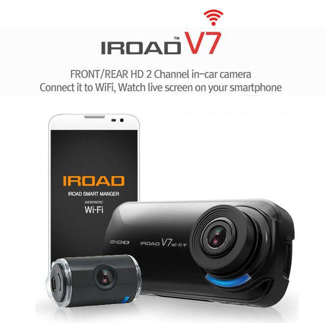 IROAD V7 WIFI HD Dual Channel Front & Back In-Car Camera (Comes with 1 year warranty!)