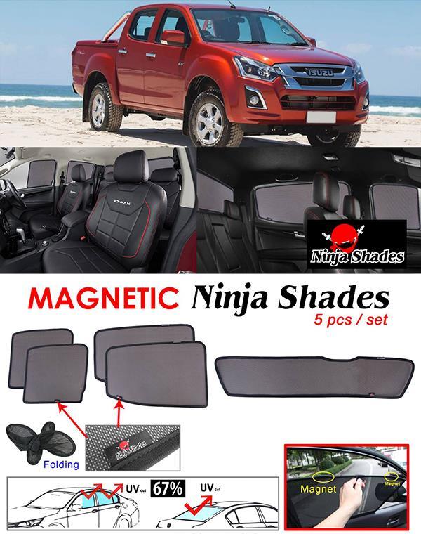 Isuzu D-MAX DMAX 2012-17 NINJA SHADESMagnetic Sun Shades 5 Pcs