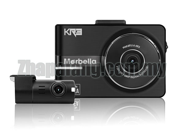 Merbella K3RS Full HD Dash Cam Parking Mode Recoding Sony Exmor with 32GB Memory