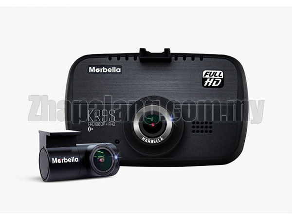 Marbella KR9S FHD Dual Channel Dashcam WiFi Parking Mode Recording Sony Exmor 32GB Memory