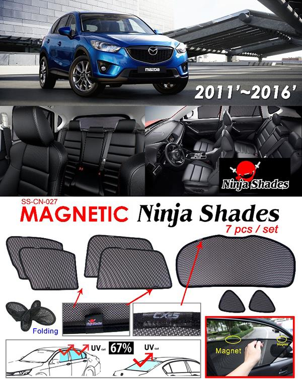 Mazda CX5 CX-5 2012-16 NINJA SHADES Magnetic Sun Shade 7 Pcs