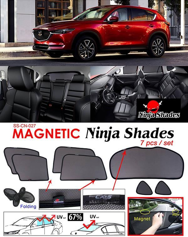 Mazda CX5 CX-5 2017 NINJA SHADES Magnetic Sun Shade 7 Pcs