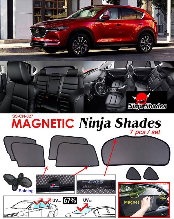 Mazda CX5 CX-5 2017 NINJA SHADES Magnetic Sun Shade 7 Pcs