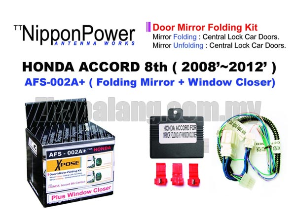 NipponPower Door Mirror Folding Kit for Honda Accord 8th \'2008-2012