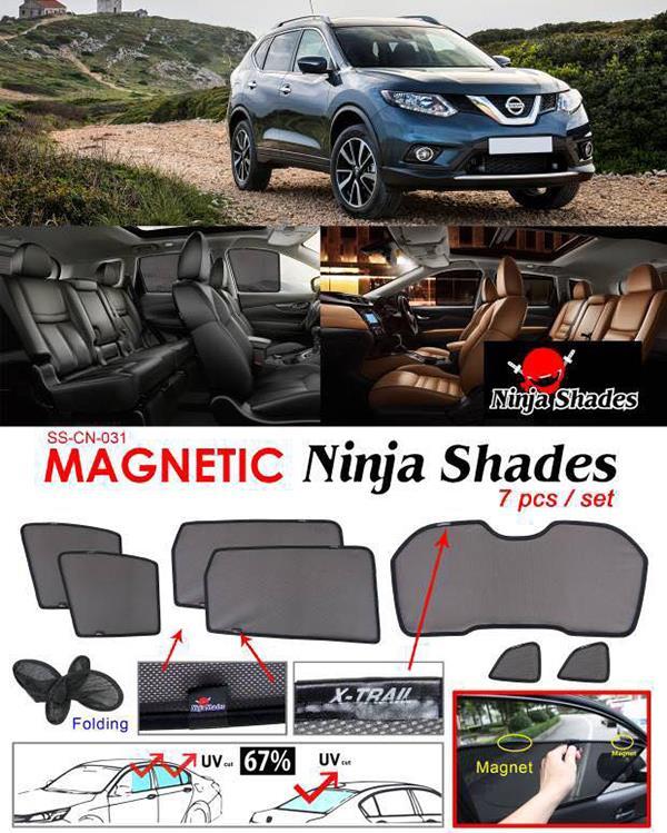 Nissan X-Trail T40 2013-17 NINJA SHADES Magnetic Sun Shade 7 Pcs