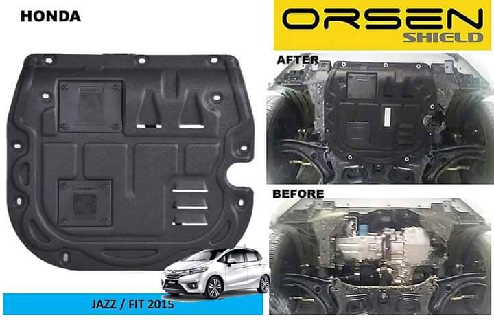 Orsen Shield Under Armour Protection Skid Plate Honda Jazz/Fit 2015