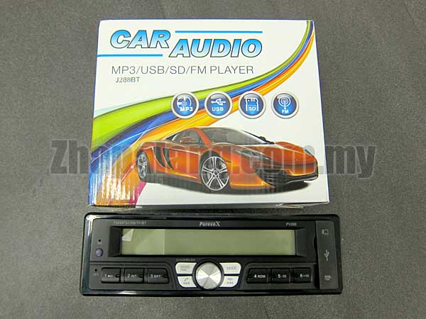 PurevoX J288BT MP3/USB/SD/FM Player Head Unit w/ Bluetooth