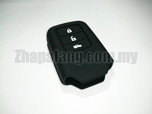 Silicon Car Key Cover / Case for Honda (Black)