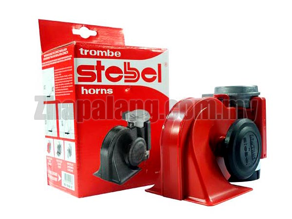 Stebel SUPER LOUD 139Db Nautilus Compact Twin Air Horn(Red)