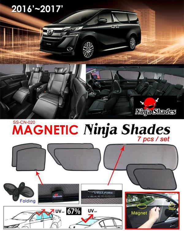 Toyota Alphard/Vellfire ANH30 2015-17 NINJA SHADES Magnetic Sun Shade 7 Pcs