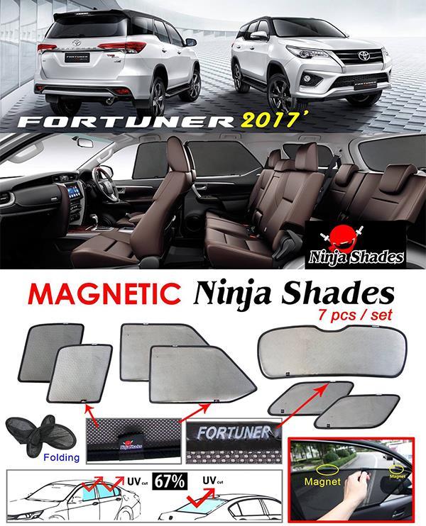 Toyota Fortuner 2015-17 NINJA SHADES Magnetic Sun Shades 7 Pcs