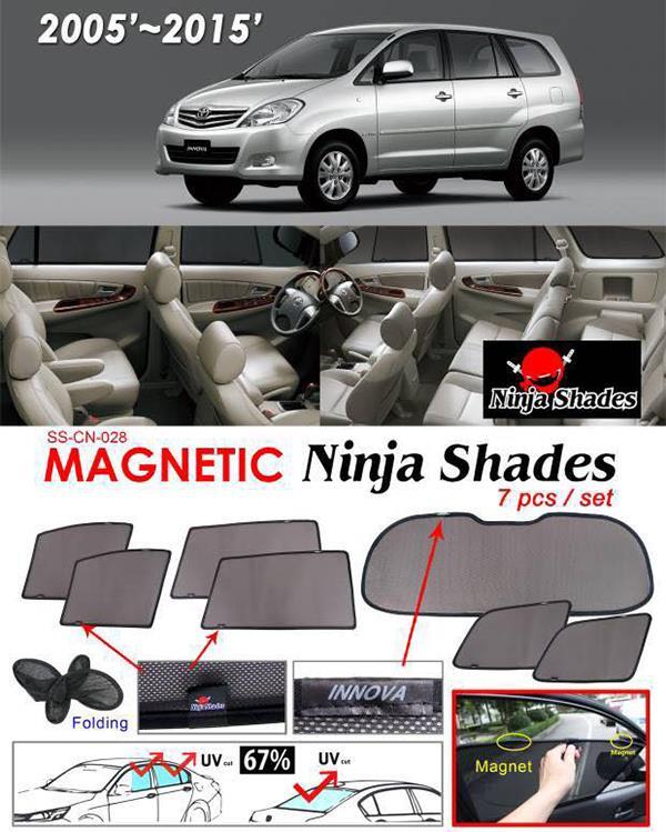Toyota Innova 2004-14 NINJA SHADES Magnetic Sun Shade 7 Pcs