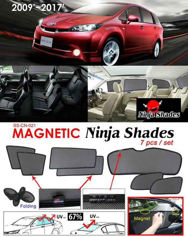Toyota Wish ZNE20 2009-17 NINJA SHADES Magnetic Sun Shades 7 Pcs