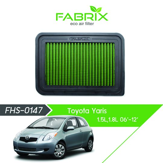 FABRIX FHS-0147 Eco Air Filter For Toyota Yaris 1.5L / 1.8L (2006 - 2012)