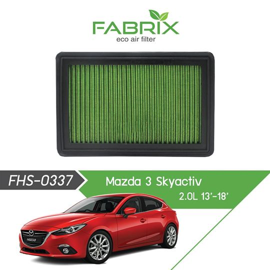 FABRIX FHS-0337 Eco Air Filter For Mazda 3 Skyactive 2.0L / 2.5L (2013 - 2018)