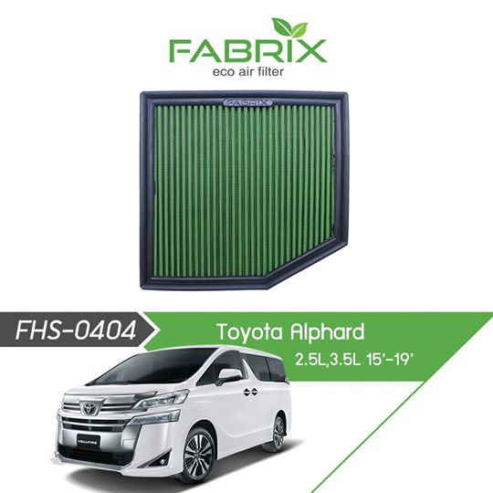 FABRIX FHS-0404 Eco Air Filter For Toyota Alphard 2.5L / 3.5L (2015 - 2019)