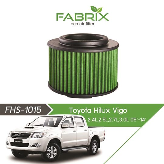 FABRIX FHS-1015 Eco Air Filter For Toyota Hilux Vigo 2.4L / 2.5L / 2.7L / 3.0L (2005 - 2014)
