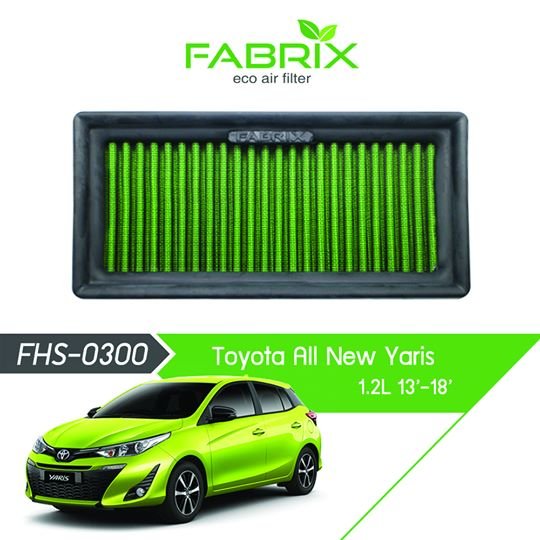 FABRIX FHS-0300 Eco Air Filter For Toyota Yaris 1.2L (2013 - 2018)
