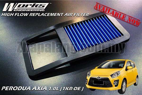 Works Engineering Replacement Filter Perodua AXIA 1.0 \'14-ON