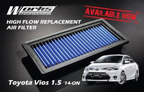 Works Engineering Replacement Filter Toyota Vios 1.5 '14-ON