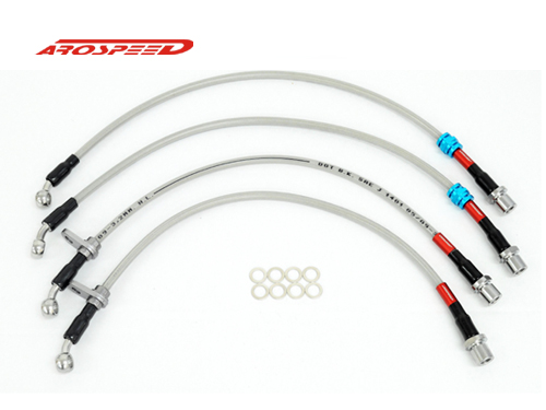 AROSPEED Steel Braided Brake Hose Subaru STI Ver.7 & 8 4 disc