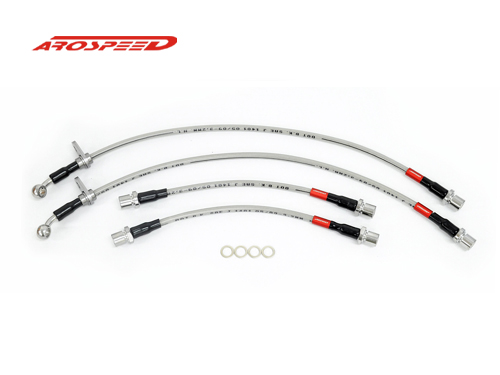 AROSPEED Steel Braided Brake Hose Toyota Avanza 2003 4 disc