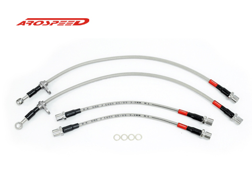 AROSPEED Steel Braided Brake Hose Toyota Vios 03-07 4 disc