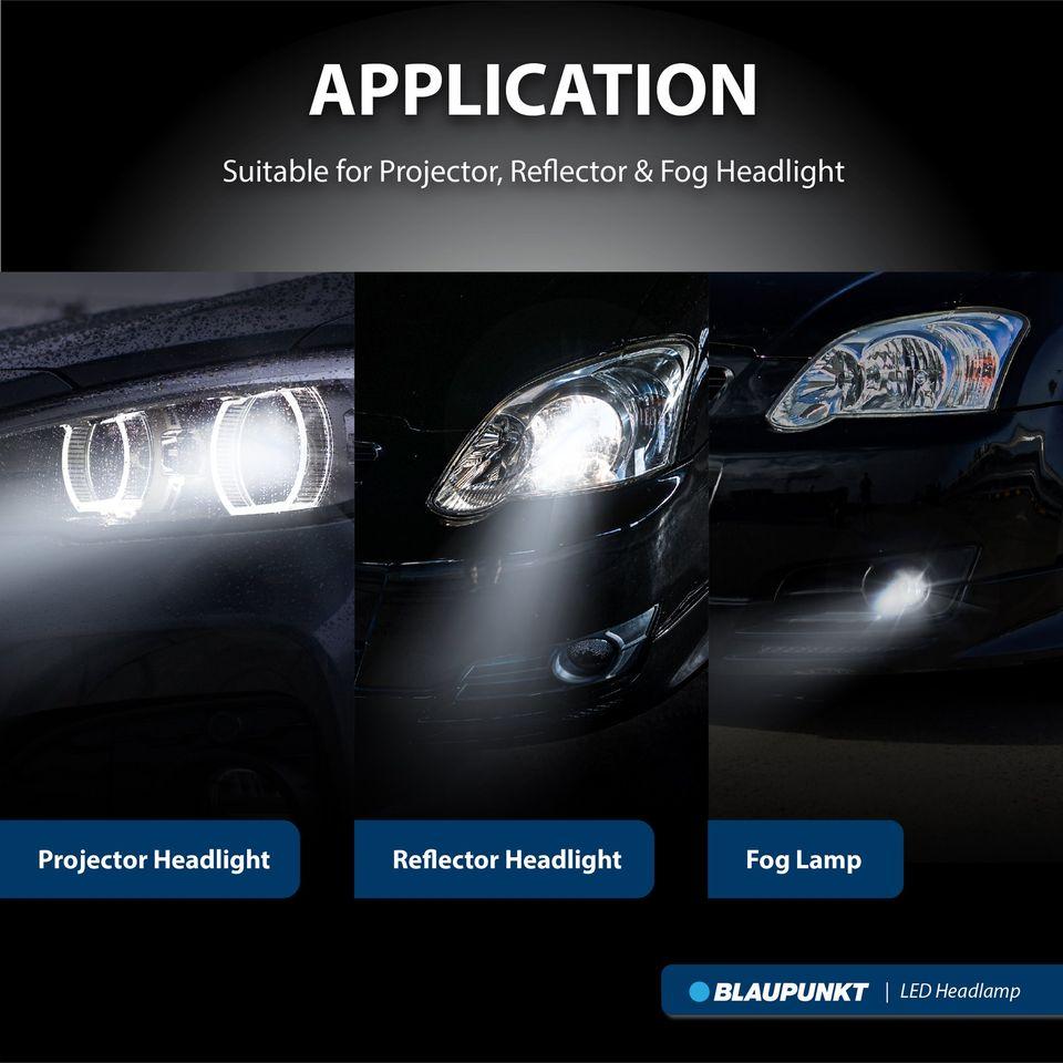 Blaupunkt H8/H11/H16 5000K/6000K LED Headlamp 12V Vehicle Lighting 136650W /136660W  | Projector and Fog Lamp - Image 2